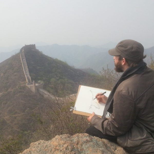 Evgeny Bondarenko in China at Great Wall